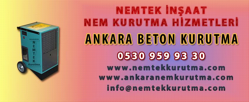 Ankara Beton Kurutma