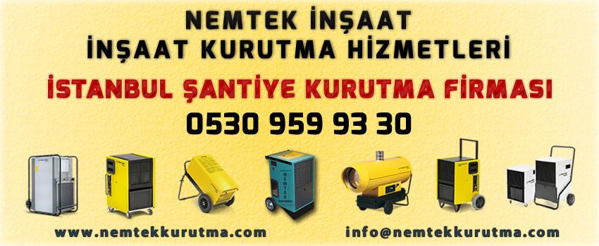 İstanbul Şantiye Kurutma Firması