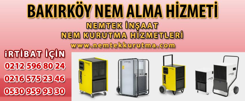 Bakırköy Nem Alma Hizmeti