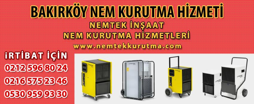 Bakırköy Nem Kurutma Hizmeti